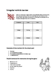 Irregular verb tic-tac-toe