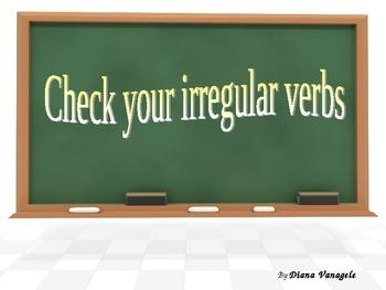 Irregular verbs Interactive activity
