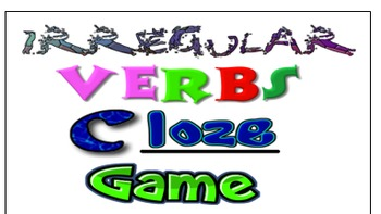 Irregular verbs cloze game