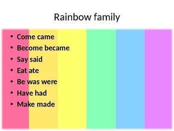 Irregular verbs color family