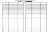 Irregular verbs (copy sheet)