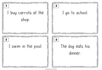 Irregular verbs past tense - task cards
