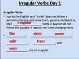 Irregular yo verbs (Dar, Decir, Poner, Salir, Traer, Venir
