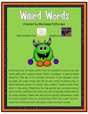 Weird Words: Irregularly Spelled Words Card Game
