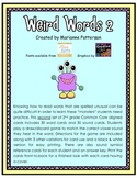 Weird Words 2: Irregularly Spelled Words Card Game