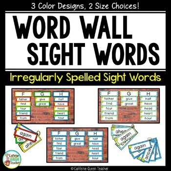 High Frequency Sight Word Wall with Sight Words - 3 Color Choices