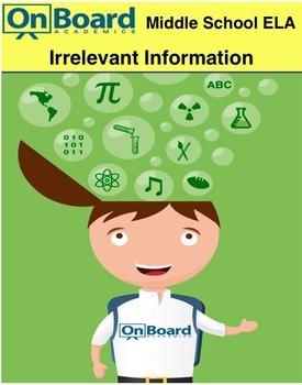 Irrelevant Information-Interactive Lesson