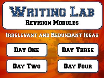 Irrelevant and Redundant Ideas - Writing Lab Revision Module