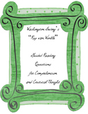 """Irving's """"Rip van Winkle"""" - Guided Reading Questions"""