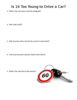 Is 16 Too Young to Drive a Car? Mini-Quiz