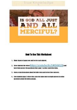 Is God All Just and All Merciful?