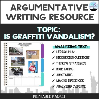 Is Graffiti Vandalism Packet with Lesson Plan