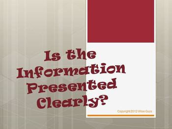 Is Information Presented Clearly PowerPoint