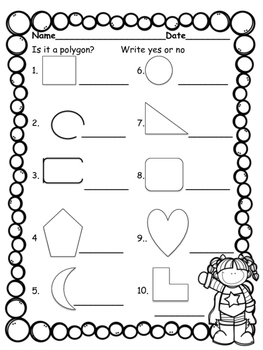 Is It A Polygon Free Worksheet