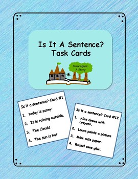 Is It A Sentence? Task Cards