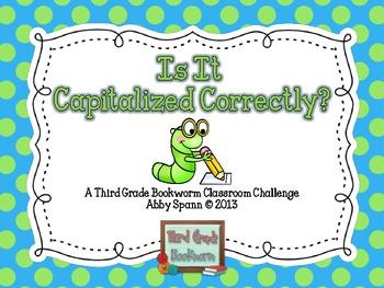 Capitalization Task Cards {Capitalization SCOOT!}