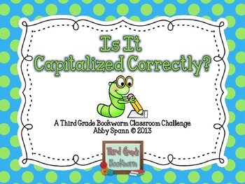 Is It Capitalized Correctly? (A Classroom Challenge)