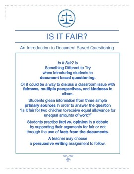 Is It Fair? - An Introduction to Document Based Questioning