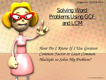 Solving Word Problems with GCF and LCM