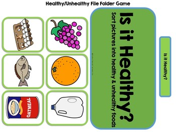 Is It Healthy? Adapted Book & Folder Game on Nutrition(Autism, Life Skills SPED)