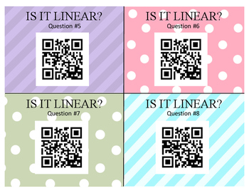Is It Linear? -- Linear Equation and Graph Practice