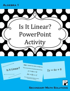 Linear Functions PowerPoint Activity