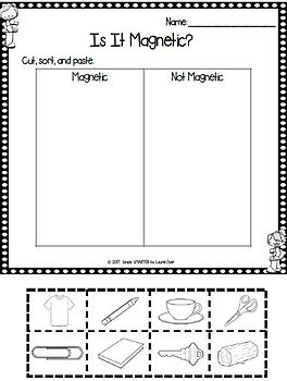 Magnets Emergent Reader Book AND Interactive Activities