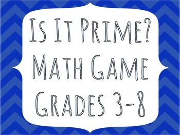 Is It Prime? Math Game