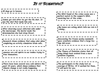 Is It Science? Activity