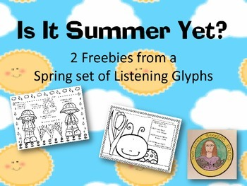 Is It Summer Yet Listening Glyph Freebie