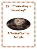 Is It Terminating or Repeating? A Decimal Sorting Activity