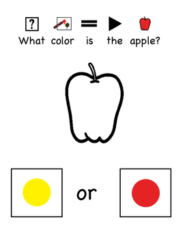 Is It Yellow Or Red? Interactive book or Printable book with Yes/No questions