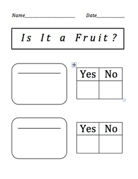 """""""Is It a Fruit or Vegetable"""" A Plant Science Investigation"""