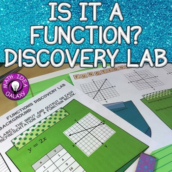 Is It a Function? Discovery Lab 8.F.A.1