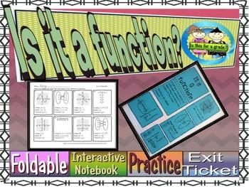 Function Test, Domain & Range, INB, Practice Sheet, & Exit Ticket