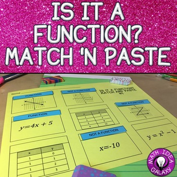 Is It a Function? Match and Paste Activity 8.F.A.1