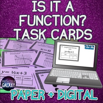 Is It a Function? Mini Task Cards 8.F.A.1