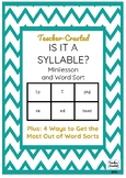 Is It a Syllable? Minilesson and Sort