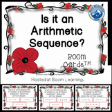 Is It an Arithmetic Sequence Boom Card Deck--Digital Task Cards