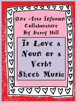 Is Love a Noun or a Verb? Valentine Sheet Music FREEBIE!!