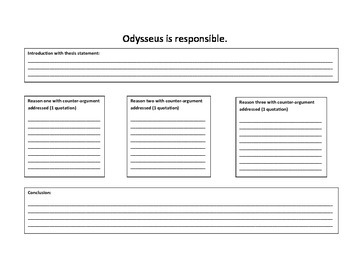 Is Odysseus Responsible? Organizer