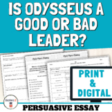 The Odyssey Activities: Odyssey Essay Prompt Analyzing Odysseus' Leadership