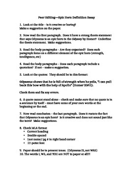 Romeo And Juliet English Essay Is Odysseus An Epic Hero Essay Assignment Examples Of An Essay Paper also High School Essay Format Is Odysseus An Epic Hero Essay Assignment By Englishteacher  Topics For Proposal Essays