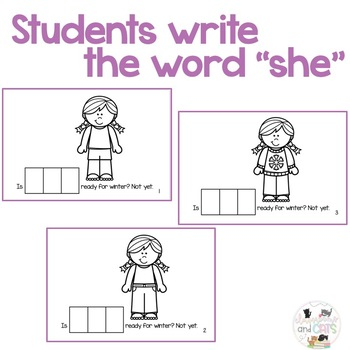 Is SHE ready for winter? Sight Word Reader