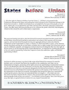 Is Southern Secession Constitutional? Primary Sources Activity Packet