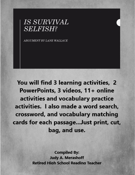Is Survival Selfish by Lane Wallace