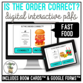 Is The Order Correct? Fast Food Digital Activity