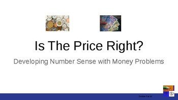 Is The Price Right - Fun Math PowerPoint file