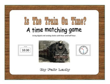 Is The Train On Time Game - To the hour and half hour