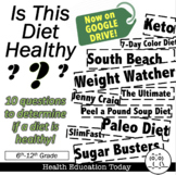 """Health Lesson: """"Is This Diet Healthy?"""""""